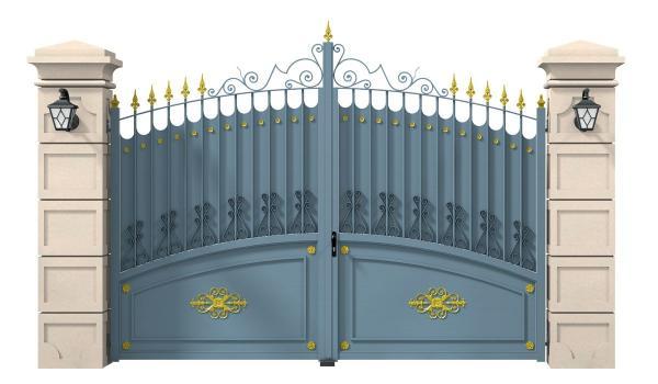 Portail alu Chambolle Musigny battant forme bombé avec décorations