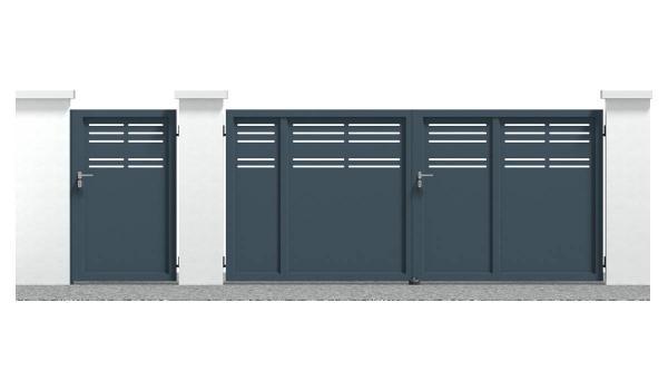 Portail alu et portillon alu Musigny standard