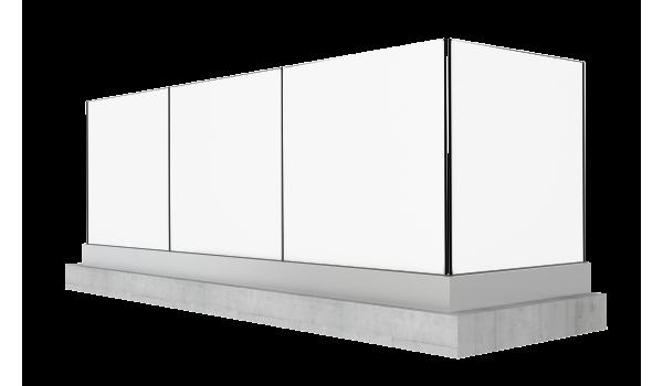 Garde-Corps vitré Modèle Horizon ambiance 3D